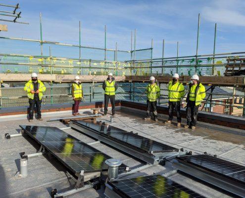 Solar Panels on Grimsby YMCA Building